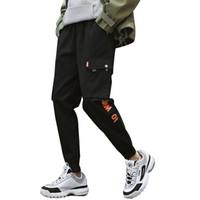 2020 bolsos de carga calças dos homens cores dos retalhos Casual Jogger Moda Tactical Calças Tide Harajuku Streetwear S-3XL