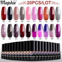 Maphie Nagelgel Set Gel Lack Temperaturänderung Farbe aus der UV / LED glänzende Farbe lang dauerhaft Nagellack Gel Polnisch XSN4 #