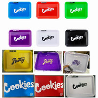 Cookies Glow Tray Runtz LED Light Up rechargeable Plateau roulant Cigarette Plateau pour sec Herb Stockage Emballage