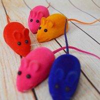 새로운 작은 마우스 장난감 노이즈 사운드 이죠 쥐가 고양이 고양이 놀이 장난감 애완 동물 장난감 고무 봉제 마우스 장난감 도매 BH2918 DBC를 들어 선물을 재생