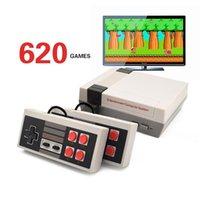 듀얼 컨트롤러 핸드 헬드 게임 플레이어와 미니 TV 게임 콘솔 8 비트 레트로 게임 콘솔 (620 개) 게임