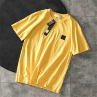 Erkek Tasarımcı Tişörtleri Yaz Erkekler Ve Kadınlar Kısa Kollu Üst Tees Rozeti Gömlek Erkek Giyim Boyutu M-2XL Yüksek Quanlity