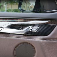Carbon-Faser-Farben-Auto-Türinnengriff-Schüssel Rahmenzierabdeckung Trim für BMW X5 F15 X6 F16 2014-2018 Innen Abziehbilder