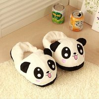 Cheap THINKTHENDO Cute Panda Eyes Women Cute Slippers Lovely Cartoon Indoor Home Soft Shoes Slippers