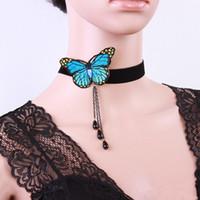 2020 collar de Europa y los Estados Unidos Mariposa populares Cuello de cadena corta collar de la mujer Boutique joyería al por mayor