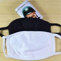 Anti Dust Face Mask Black Cotton Mouth Muffle Travel Camping Cycling Masks White Washable Reusable Cloth Masks CCA12371 1000pcs