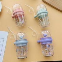 New Whale Spray Cup Straw Sippy Cups für Kleinkinder Whale Squirt Cup Sommer Kinder Straps Stoffbecher sind Tropfen Resistant Trinken