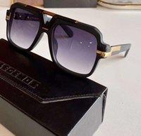 Legends 664 Óculos de Sol Matte Preto / Cinza Lentes Gradientes de 58mm Óculos Sun Moda Mens Óculos de Sol Shades Eye Wear Novo com Caixa