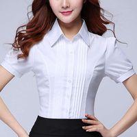 Blusas de mujer Camisetas Moda coreana Oficina de mujeres Lady Algodón Blusa Blusas Muyer de Moda 2021 Camisa elegante Talla grande 5XL
