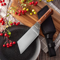 Acciaio inossidabile Mini chef di cucina coltelli da macellaio lama esterna Mannaia Camping Cooking Cutter spezzettamento e la lama con la copertura