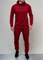 Stacked Men Tracksuits Casual Slim Fit Sportswear Male Cloth...