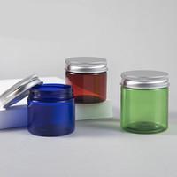 50 G 80 ML Kunststoff Runde Vorratsgläser Weithalsplastikbehälter Gläser mit Aluminium Schraubdeckel für Lagerung flüssiger und fester Produkte