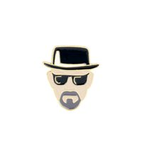 Walter White Enamel Brooches Pins TV Show Breaking Bad Ename...