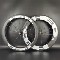 HED 700C عجلات الكربون الطريق الأمامي 60MM Read88mm عمق 25mm عرض العرض / لايحتاج / أن أنبوبي الكربون العجلات مع الانتهاء من UD ماتي