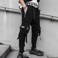 Streetwear Hip Hop Punk Cargo High Street Trousers 2020 Summer Men Fashion Casual Harem Pant Male Jogger Sweatpants