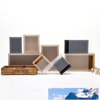 Düğün Hediye Paketleme LX0388 için Buzlu PVC Kapak Kraft Kağıt Çekmece Kutuları DIY El Yapımı Sabun Craft Jewel Box