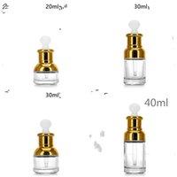 Spalla di vetro contagocce bottiglia trasparente Profumo lozione Tazza Emulsione della soluzione Coppa grado superiore Separare imbottigliamento 1 9 B2