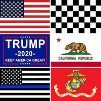 3x5 Ft American Flags USA Trump Kalifornien Startseite Dekorative USA US-Flagge Banner