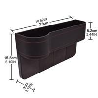 Сиденье Многофункциональный автомобилей Организатор переднего сиденья Наполнитель Кожа хранения Box Декор M68B