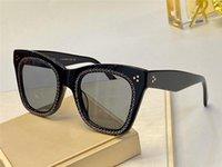 Yeni moda kristal küçük elmas popüler tarzı üst UV400 koruyucu gözlüklerle 4S004 sevimli büyük kedi gözü çerçevesini güneş gözlüğü