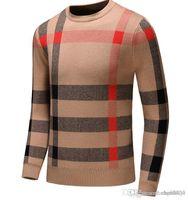 Europa und die Vereinigten Staaten High-End-Herrenbekleidungsmarke gestrickte Pullovers, gestrickte warme High-End-Herren-Wear Designer-Pullover