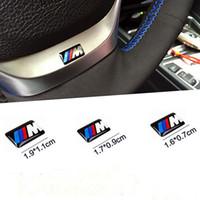 Auto Abzeichen Hub Caps Lenkrad Aufkleber M Sport Radabzeichen 3D Emblem Aufkleber Aufkleber für BMW M Serie M1 M3 M5 x1 x3 x6 x6 E34 E6 DHL