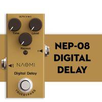NAOMI Gerçek Bypass Tasarım Dijital Gecikme Elektro Gitar Efekt Pedal Mini Tekli Gecikme Pedal Gerçek Bypass DC 9V