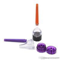 Toptan 30mm Plastik Huni Öğütücü 3 Parça Tütün Herb Baharat Kırıcı El Kraker Muller Koni Rulo Makinesi Öğütücü Ile Tütün