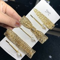 2020 New Fabric Visual Golden Metal Hair Pins Multi Style Gi...
