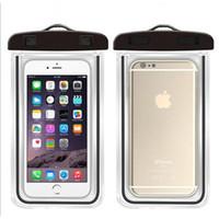 방수 전화 파우치 보호 휴대 전화 케이스 IP68 PVC 파우치 다이빙 수영 스포츠 커버를 들어 아이폰 삼성 LG MOTO