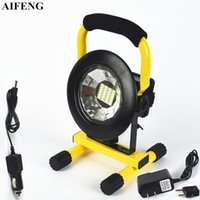Aifeng 30W Led portátil Spotlight 24Leds 5730 2400LM levou holofote 18650 bateria recarregável Spotlight portátil camping luzes