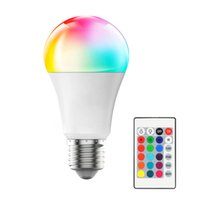 Crestech E27 LED 16 Изменение цвета RGB RGBW Light Light Lamp 85-265V RGB Светодиодный свет Светодиодный прожектор + ИК-пульт дистанционного управления