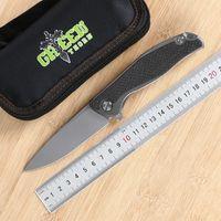 Verde espinho F95 faca dobrável liga de aço TC4 d2 titânio + fibra de carbono identificador de campismo caça faca ferramenta faca EDC fruta prático