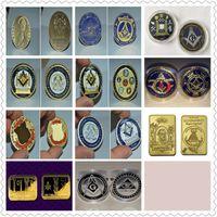 Вера, Надежда, Благотворительность металлических медали Гордый масон золотой монета поминает знак масонской эмблемы вызов монета коллекционирования Бесплатной доставки