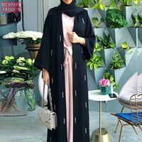 Ethnische Kleidung Eid Mubarak Kaftan Dubai Abaya Kimono Cardigan Hijab Muslim Kleid Abayas Für Frauen Islam Europäische Robe Djellaba Femme