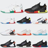 NMD R1 V2 running shoes Aqua Core Black OG Gold Metallic White Oreo Stealthy women mens