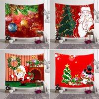 Tapiz de Navidad Colgando impresión de fondo del paño pared de tela tapiz de la toalla de playa Playa Sentado Manta decoración de la pared mayorista