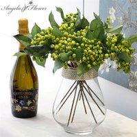 Dekoratif Çiçekler Çelenk Yapay Berry Simülasyon Meyve 4 Renk H-Q Küçük Sahte Bitkiler Düğün Dekorasyon Ev için El Parti Masa ACCE