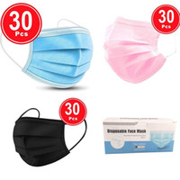 30PC Disposable Face Mask Industrial 3Ply Ear Loop