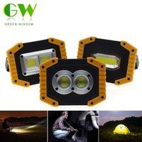 LED Portable Spotlight COB Projecteurs USB rechargeable Lampe de travail extérieur Searchlight portable pour Camping Chasse