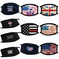ABD STOK Donald Trump Yüz Ağız Komik Karşıtı Toz Pamuk Maskeler ABD Bayrağı Kadın Erkek Unisex Moda Kış Yıkanabilir Maskesi Isınma Maske