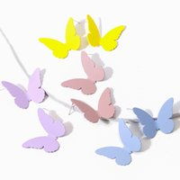 Personalità di modo farfalla variopinta Big Orecchini Pittura Belle orecchini per le donne monili d'avanguardia regalo lega