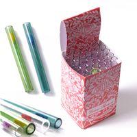 Tubo de vidrio de vidrio de vidrio recto con caja de 4 pulgadas amor rosa tubos de mano plataforma dab