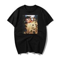 2020 Moda Travis Scott T camisa del efecto mariposa Rap Music Album Cover hombres de la cara 100% Hip Hop del verano del algodón Tops Camisetas XS-3XL