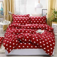 Home Textile Bedding Sets 5 size Red Heart Summer Bed Linens...