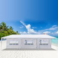 Taşınabilir Düğün Çadırları Plaj Parti Gölge Isıya Dayanıklı Su Geçirmez Tente Açık Piknik Kamp 3 x 9 M Yedi Taraflar Ev Kullanımı Çadır
