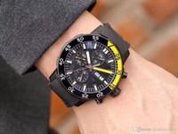relógio pulseira de borracha preta IW esportes relógio de moda de luxo máquinas marítimas designer de moda masculina em aço inoxidável movimento automático assistir