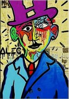 Alec Monopoly street art Salvador Dali Home Decor Handpainte...