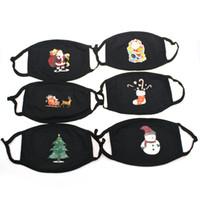 Cartone animato di Natale Natale stampato Maschera Albero di Natale dei cervi Babbo Natale Mask Bocca copertura antipolvere Earloop Resuable maschere Designer CYZ2658