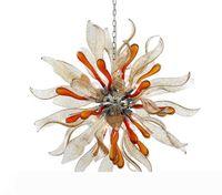 Italia Diseño flor abierta la lámpara de cristal, color arte de la lámpara de Murano para la decoración del techo de la escalera Villa Oficina de la Casa